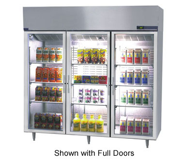 Nor-Lake Nova Reach-In Refrigerator Three-Section hinged half glass doors - NR806SSG/0
