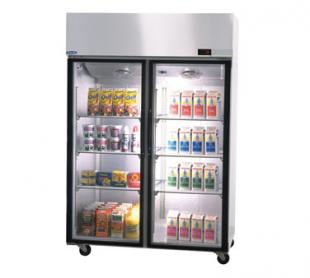 Nor-Lake Nova Pass-Thru Refrigerator Two-Section hinged full glass doors one side - PR524SSG/0X