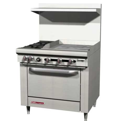 Southbend S-Series 36 Inch Ranges with Multi Function Range Tops