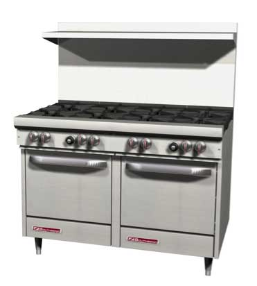 "S-Series Range 48"" W (4) Burners - #S48EE-2T"