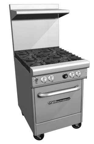 "Southbend 400 Series Ultimate Restaurant Range 24"" 4 Burner Space Saver Oven - 4243E"
