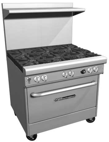 "Southbend 400 Series Ultimate Restaurant Range 36"" 4 Burner Cabinet Base - 4367C"