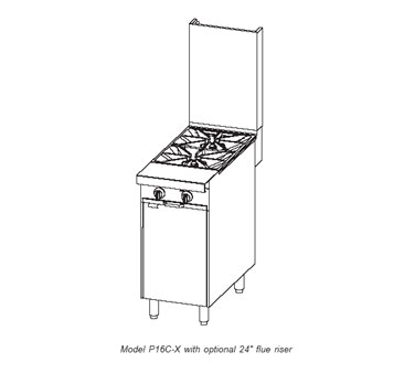 Southbend 16 Inch Platinum Ranges with Various Range Top Configurations - P16