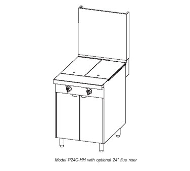 """Southbend Platinum Heavy Duty Hot Plate Range with Cabinet Base, 24"""" - P24C-HH"""