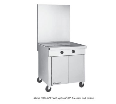 Southbend Platinum 36 in. Heavy Duty Restaurant Range 3 Hot Tops - P36A-HHH