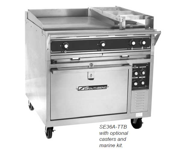 Southbend Heavy Duty Electric Commercial Range with Oven Options