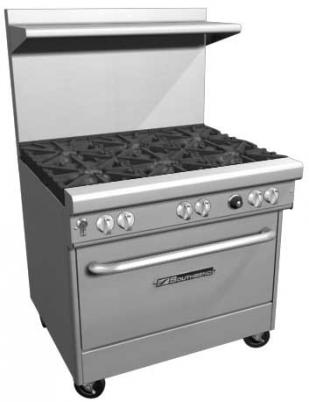 "Southbend 400 Series Ultimate Restaurant Range 36"" 2 Burner 24"" Griddle Cabinet Base - 4361C-2GL"