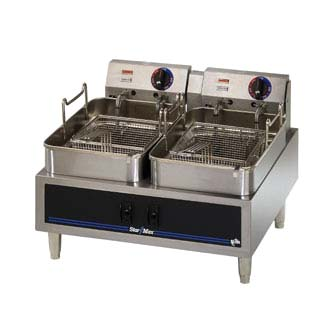 Star-Max Countertop Electric Fryer 530TF With Dual Fry Pot