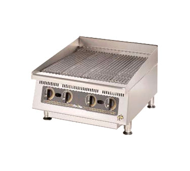 Ultra-Max 24 Inch Charbroiler with Lava Rock - 8024CBB