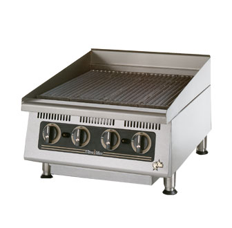 Ultra-Max 24 Inch Charbroiler w/Steel Radiants - 8124RCBB