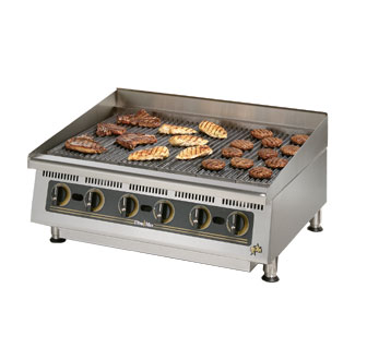 Ultra-Max 36 Inch Charbroiler w/Steel Radiants - 8136RCBB