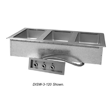 Supreme Metal Triumph Hot Food Well Unit Drop-in 208V 825W 20A  - #DISW-3-208