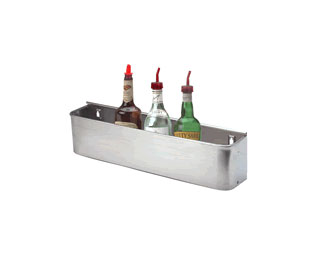 "Supreme Metal Bottle Rack 22"", Single tier, Keyhole SS  - #BK-2"