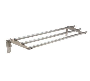 "Supreme Metal Stationary Tubular Tray Slide 62.375"" long SS  - #TTR-4"