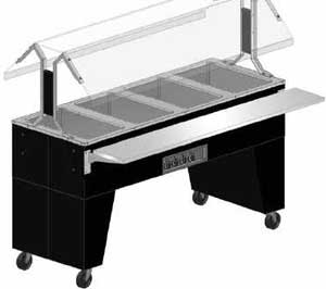 Supreme Metal Triumph Portable Cold Food Buffet Table black vinyl clad finish open base  - #B2-CPU-B