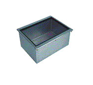 "Supreme Metal Bar King Ice Bin 21"" x 18"" x 10"" w/ cold plate 50 lb.  - #D-24-IBL-7"