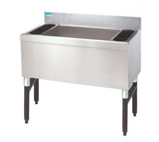 "Supreme Metal Slimline Cocktail Unit 24"" wide x 18"" front-to-back  - #SLI-12-24-7"