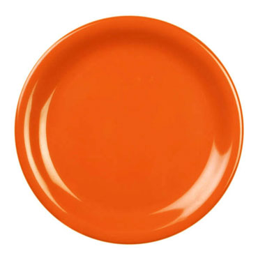 Thunder 9 Inch Melamine Plate, Orange CR109RD