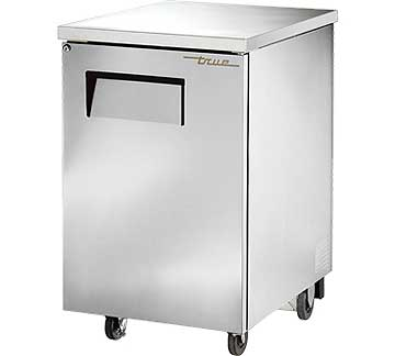 TRUE Back Bar Cooler, 1-Section, Stainless Steel, 30 Six-Pack Capacity - TBB-1-S-HC