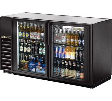 "TRUE Back Bar Cooler, 24""D, 2-Section 34-1/2"" H - TBB-24GAL-60G-HC-LD"