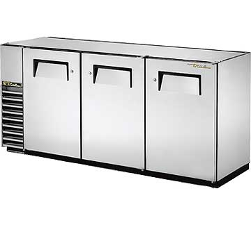 "TRUE Back Bar Cooler, 24""D, 3-Section 34-1/2"" H - TBB-24GAL-72-S-HC"