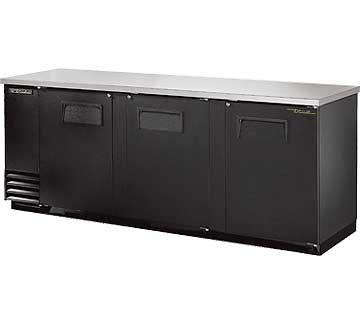 TRUE Back Bar Cooler, 3-Section, 152 Six-Pack Capacity - TBB-4-HC