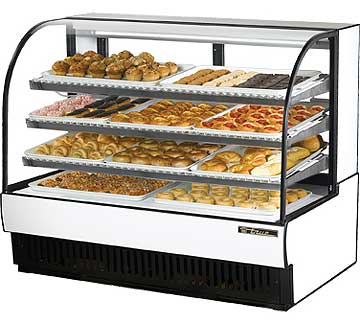 Curved Glass Non Refrigerated Case picture