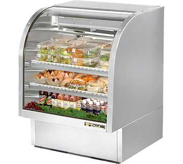TRUE Curved Glass Deli Case - TCGG-36-S-LD