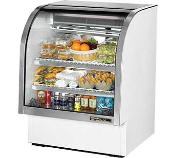 TRUE Curved Glass Deli Case - TCGG-36-LD