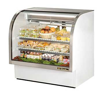 TRUE Curved Glass Deli Case - TCGG-48-LD