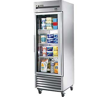 TRUE One-Section Reach-in Refrigerator, Glass Door, 23 Cu. Ft. - TS-23G-HC~FGD01