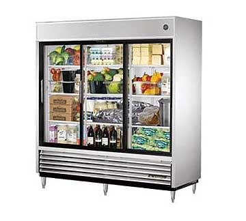 TRUE Refrigerator Reach-in 3-section 69 cu. ft. - TSD-69G-LD