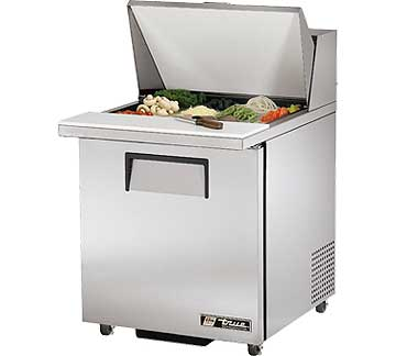 TRUE Mega Top Sandwich Prep Table 6.5 Cu. Ft. TSSU-27-12M-BADA