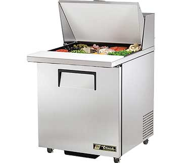 TRUE Mega Top Sandwich Prep Table 6.5 Cu. Ft. TSSU-27-12M-CADA