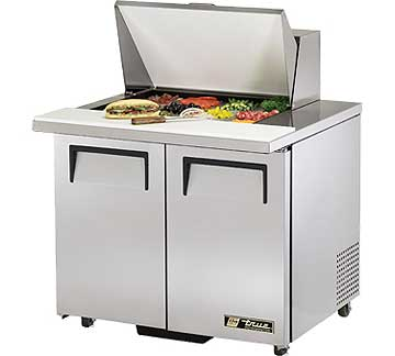 TRUE Mega Top Sandwich Prep Table 8.5 Cu. Ft. TSSU-36-12M-BADA
