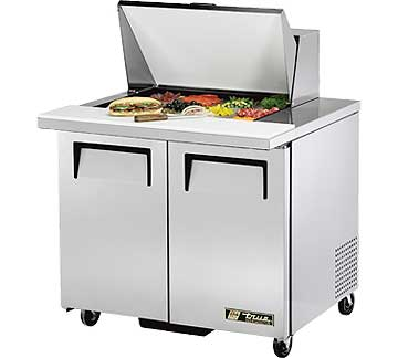 TRUE Mega Top Sandwich Prep Table 8.5 Cu. Ft. TSSU-36-12M-B