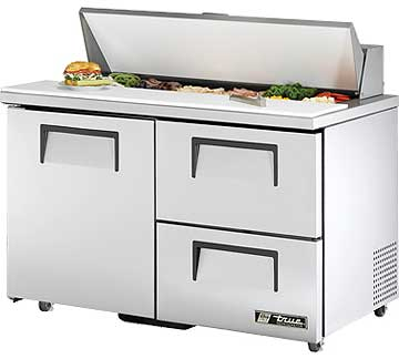 TRUE Sandwich Prep Table 12 Cu. Ft. TSSU-48-12D-2ADA