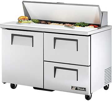 TRUE Sandwich Prep Table 12 Cu. Ft. TSSU-48-12D-2