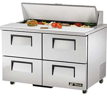 TRUE Sandwich Prep Table 12 Cu. Ft. TSSU-48-12D-4ADA