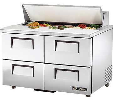 TRUE Sandwich Prep Table 12 Cu. Ft. TSSU-48-12D-4
