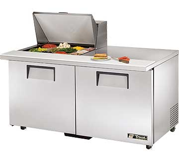 TRUE Mega Top Sandwich Prep Table 15.5 Cu. Ft. TSSU-60-12M-BADA
