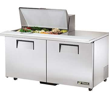 TRUE Mega Top Sandwich Prep Table 15.5 Cu. Ft. - TSSU-60-15M-B-ADA-HC