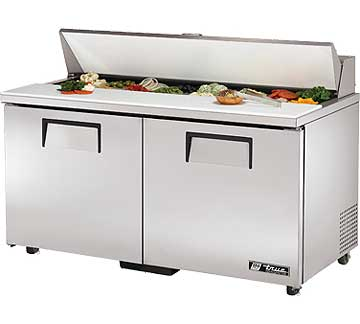 TRUE Sandwich Prep Table 15.5 Cu. Ft. - TSSU-60-16-ADA-HC