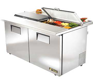 TRUE Dual Sandwich And Salad Prep Table 15.5 Cu. Ft. TSSU-6016DSSTADA