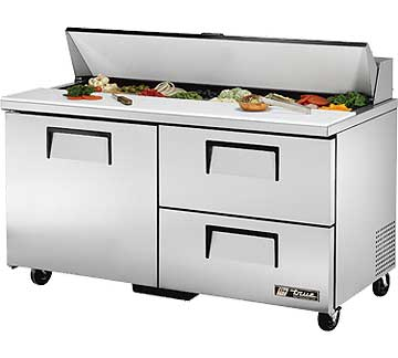 TRUE Sandwich Prep Table 15.5 Cu. Ft. - TSSU-60-16D-2-HC