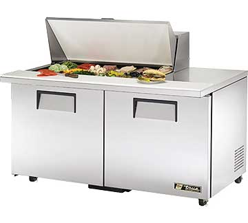 TRUE Mega Top Sandwich Prep Table 15.5 Cu. Ft. - TSSU-60-18M-B-ADA-HC