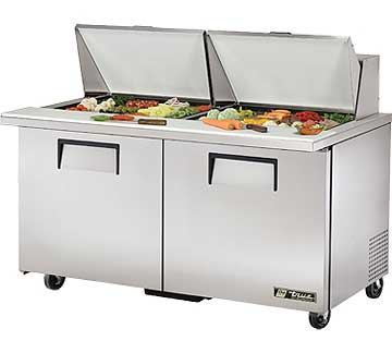 TRUE Mega Top Sandwich Prep Table 15.5 Cu. Ft. - TSSU-60-24M-B-ST-HC