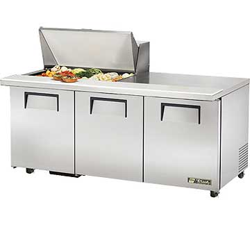 TRUE Mega Top Sandwich Prep Table 19 Cu. Ft. TSSU-72-15M-BADA
