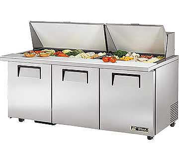 TRUE Mega Top Sandwich Prep Table 19 Cu. Ft. TSSU-7230MBSTADA
