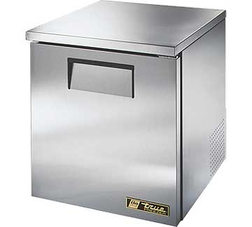 TRUE Low Profile Undercounter Freezer 6.5 cu. ft. - TUC-27F-LP-HC